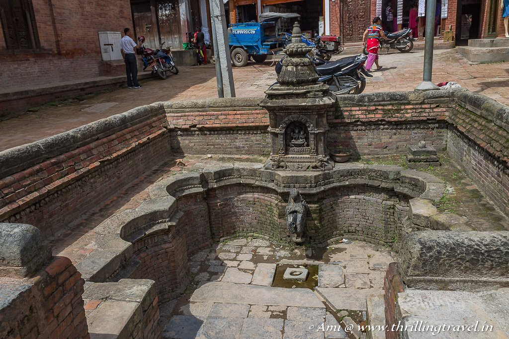 A sunken bath on the way to Dattatreya Square of Bhaktapur