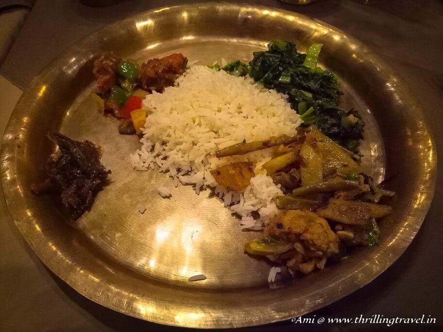 Daal Bhaat Tarkari - a Nepali meal