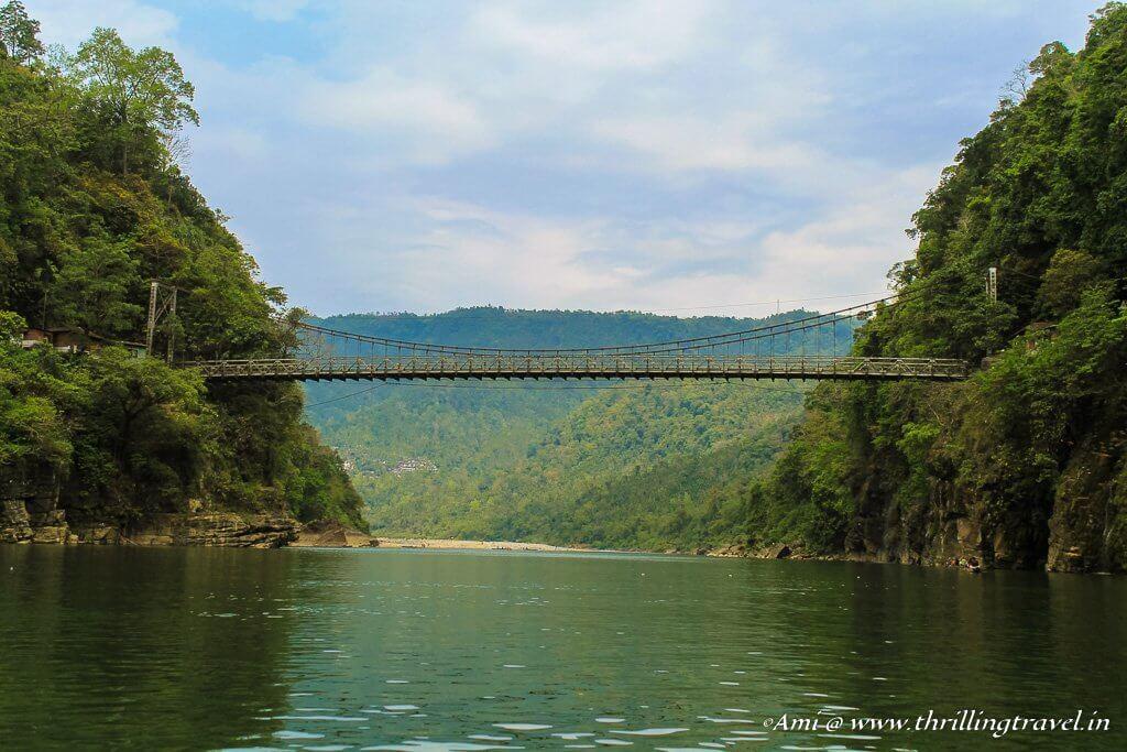 The Dawki Suspension Bridge