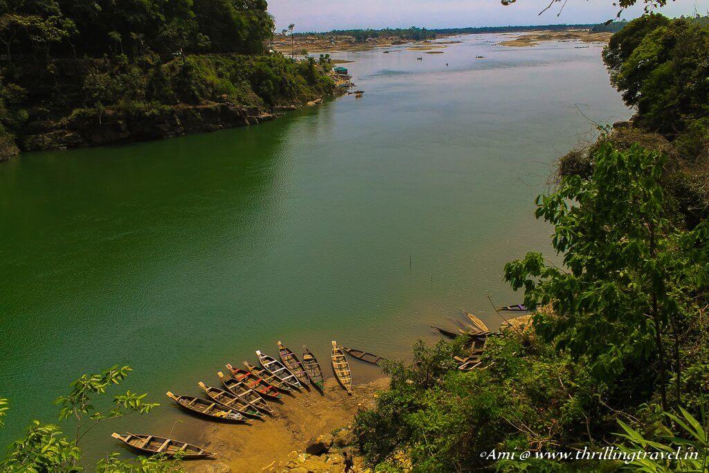 Dawki river as it enters Bangladesh