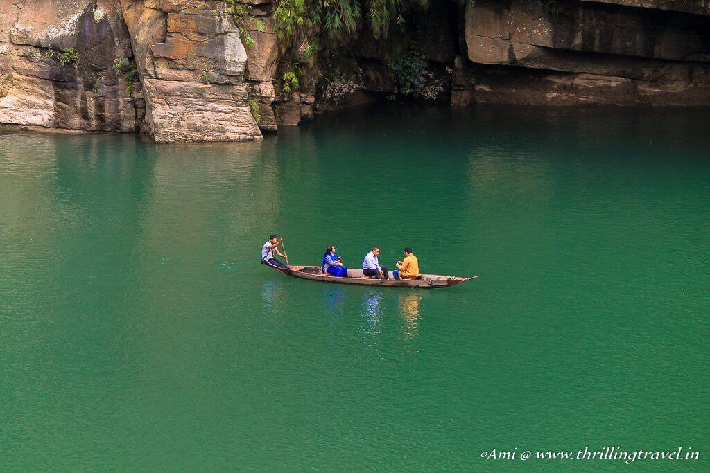 The boating along Dawki River