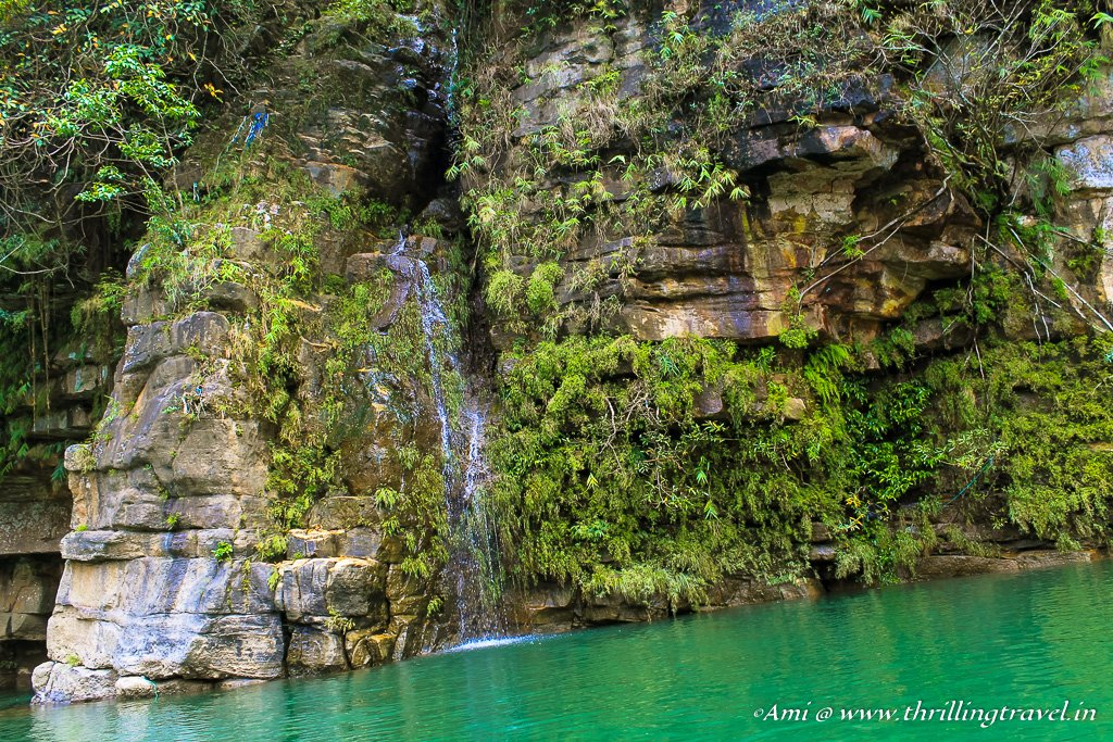 Hidden alcoves and cascades along the Dawki River