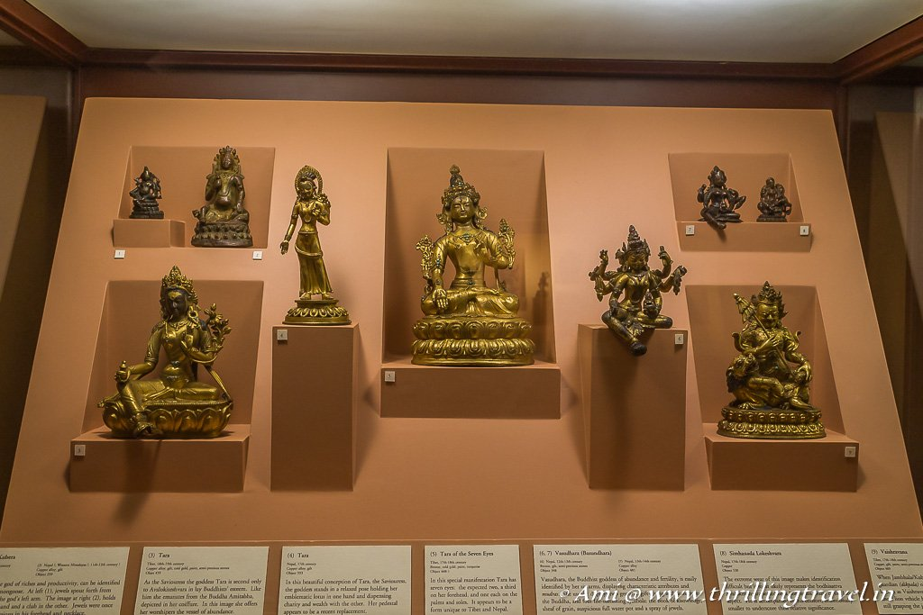 Exhibits in the Patan Durbar Square Museum