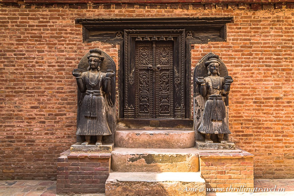 One of the royal doorways within the 55 Window Palace in Bhaktapur Durbar Square