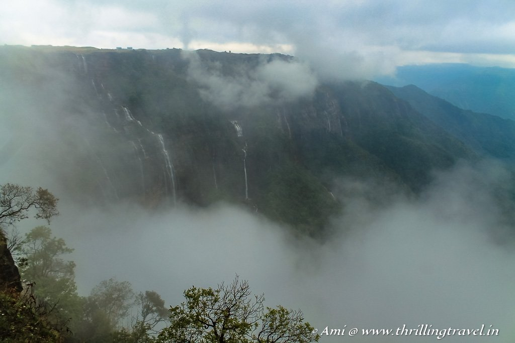 As the curtains close over the Seven Sisters Falls in Meghalaya