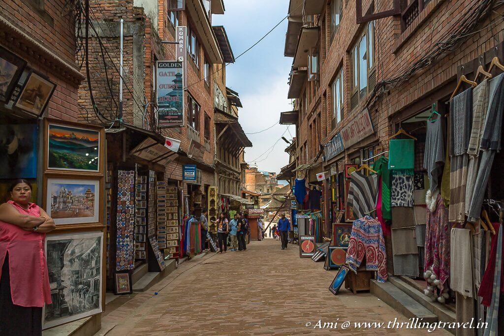 Shopping in Bhaktapur Durbar Square Kathmandu