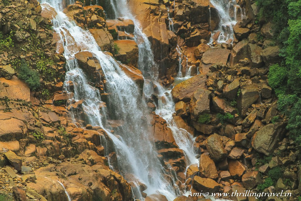 Close up of the Wah Kaba falls  in Meghalaya