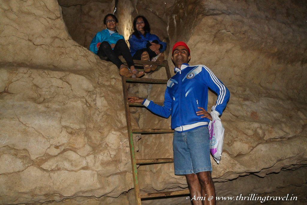 The A team at the Arwah Caves in Meghalaya