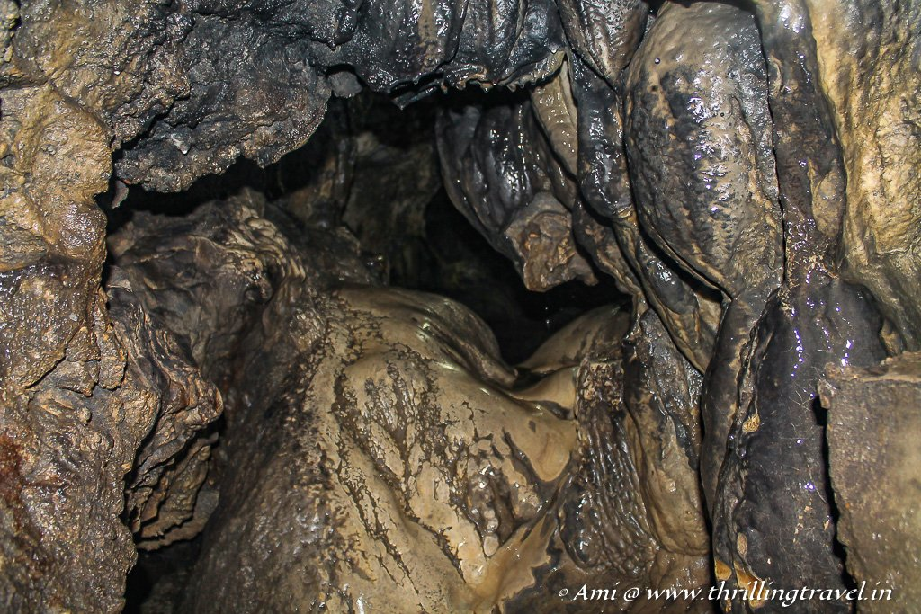 Squeezing through the gut of the Mawsmai Caves