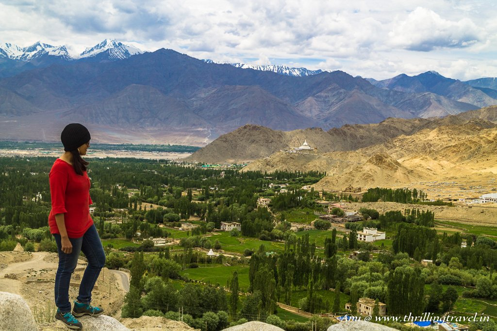 Overlooking the Shanti Stupa at Leh
