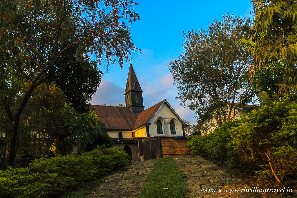The picturesque church in Mawlynnong, Meghalaya