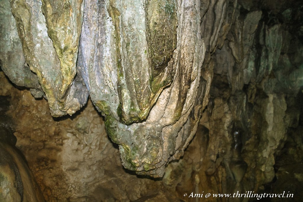 The dragon-like formation in Mawsmai Caves