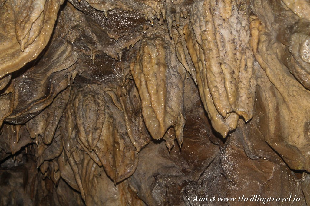 The stalactites of Arwah Caves in Sohra - one of the many caves in Meghalaya