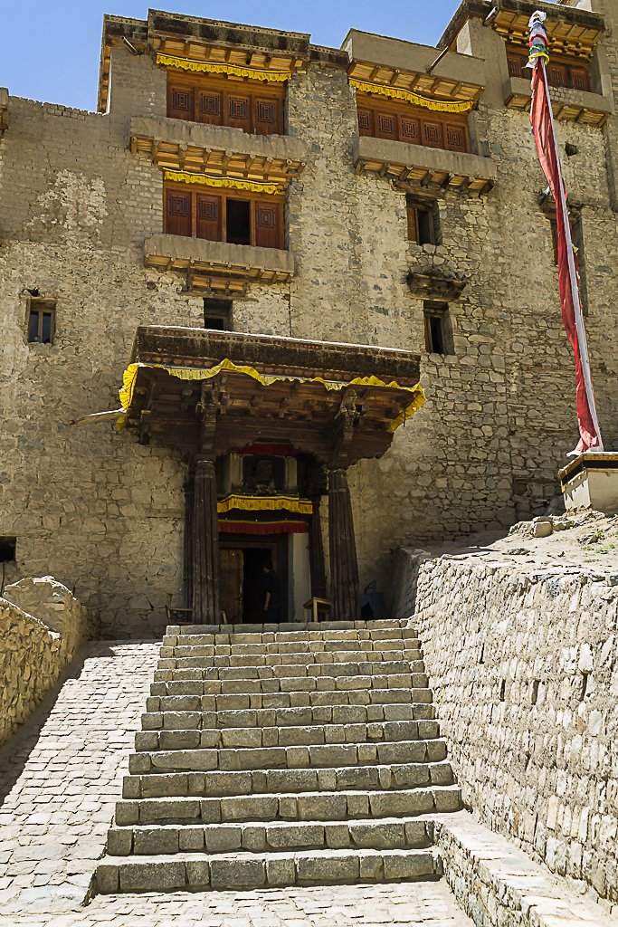 The grand entrance of the Leh Palace