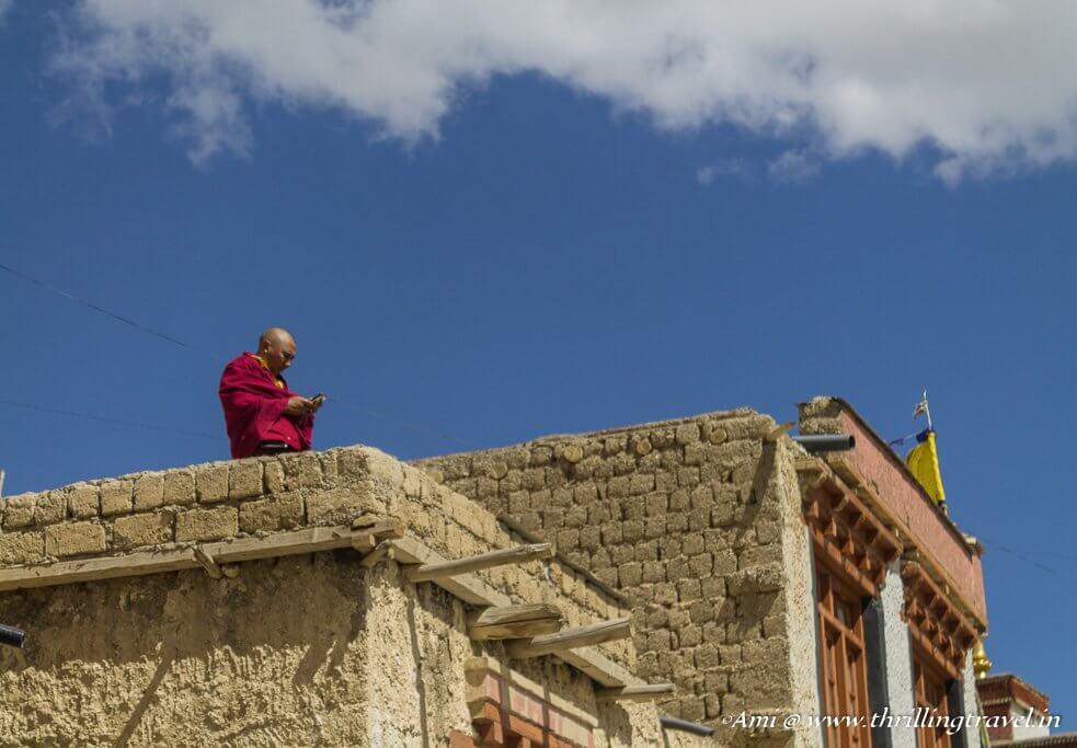 Along the Entrance of Lamayuru Monastery