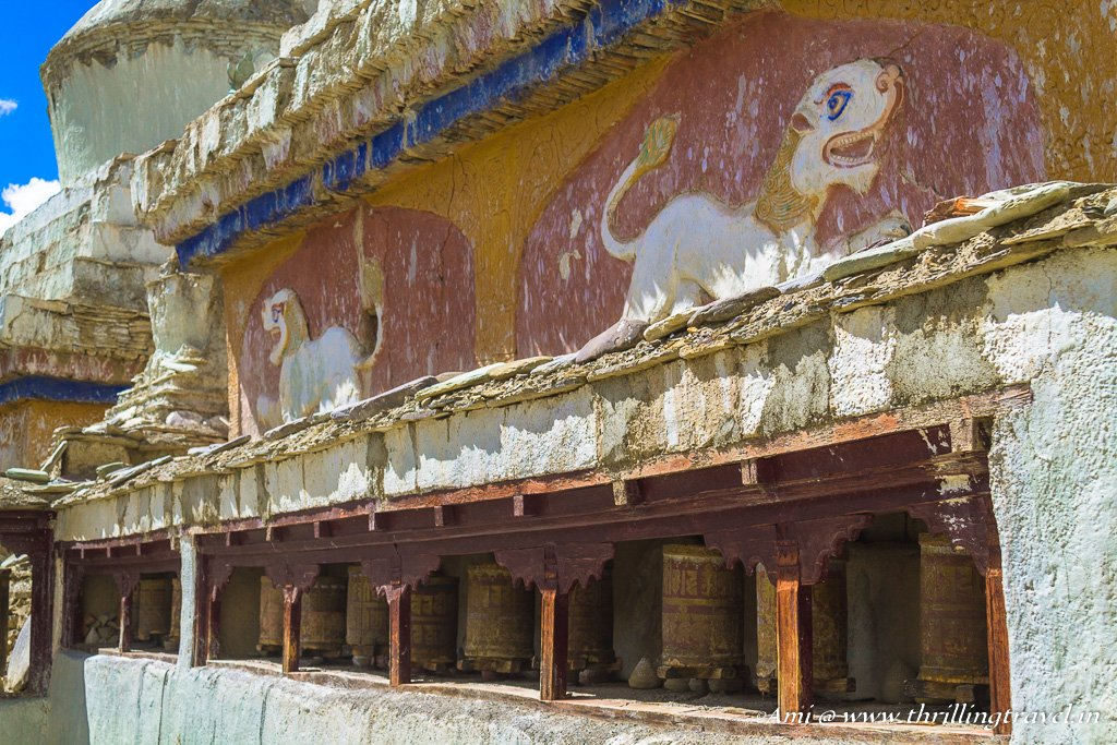 The paintings at the Old Gompa of Lamayuru Monastery