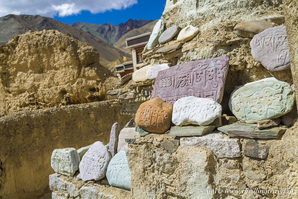 The Mani stones at Lamayuru Monastery