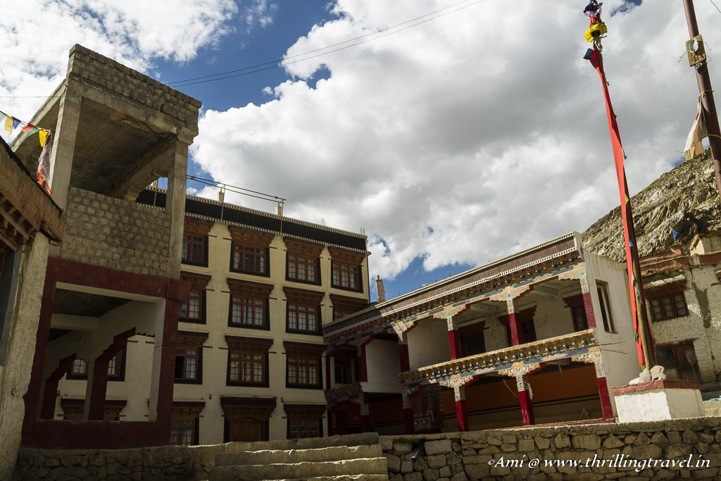 Discovering the prayer hall and the school at Lamayuru Monastery
