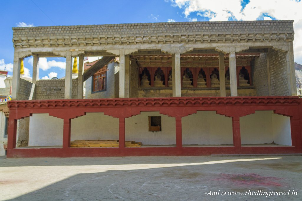 The prayer hall at Lamayuru Monastery