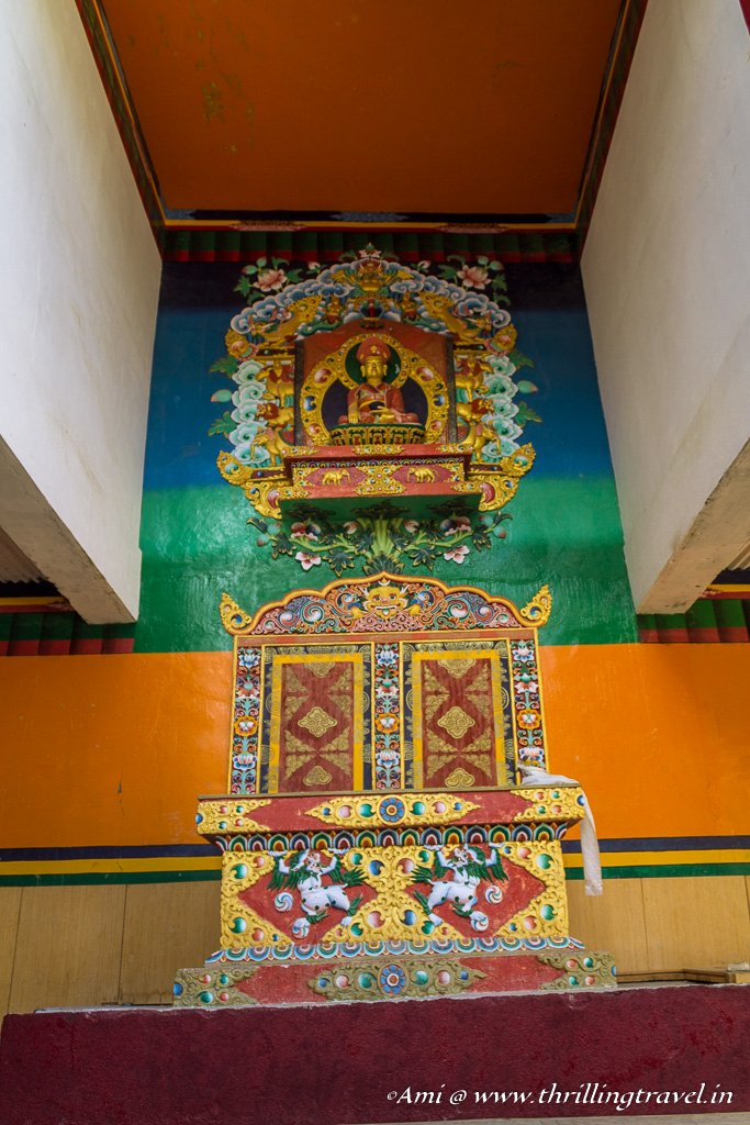 The prayer hall at Lamayuru Monastery