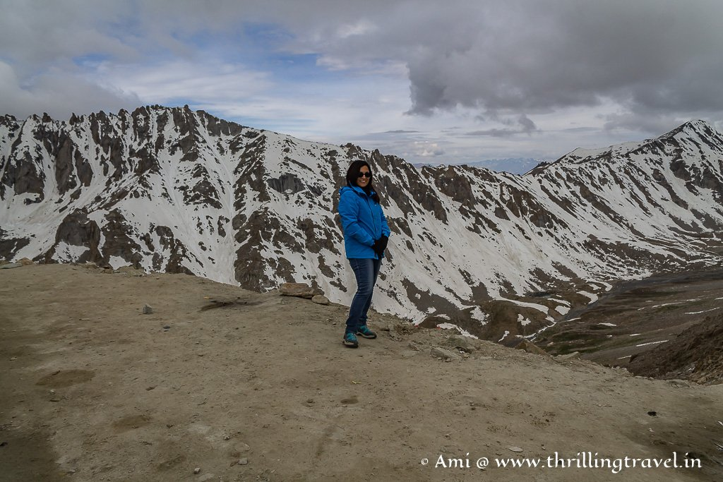 Snowy peaks seen at one of the highest passes in the world - Khardung La