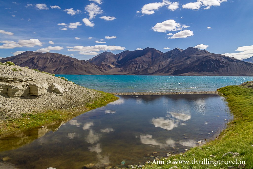 More Pangong Lake pictures capturing the reflection of the sky