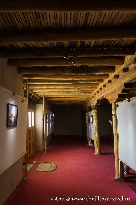 Small rooms converted to exhibition halls for the Leh Palace Museum
