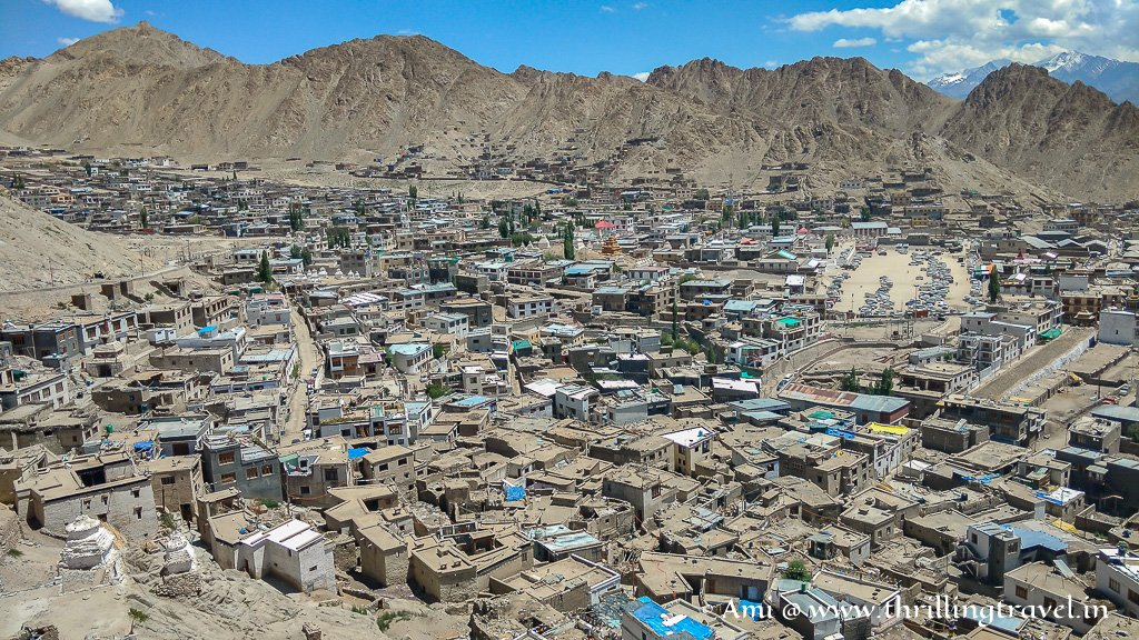 The dusty part of the Leh City as seen from Level Seven of the Forgotten Palace