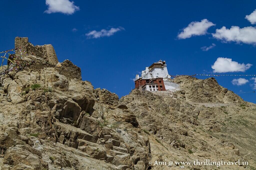 Namgyal Tsemo monastery at the far end of Leh Palace