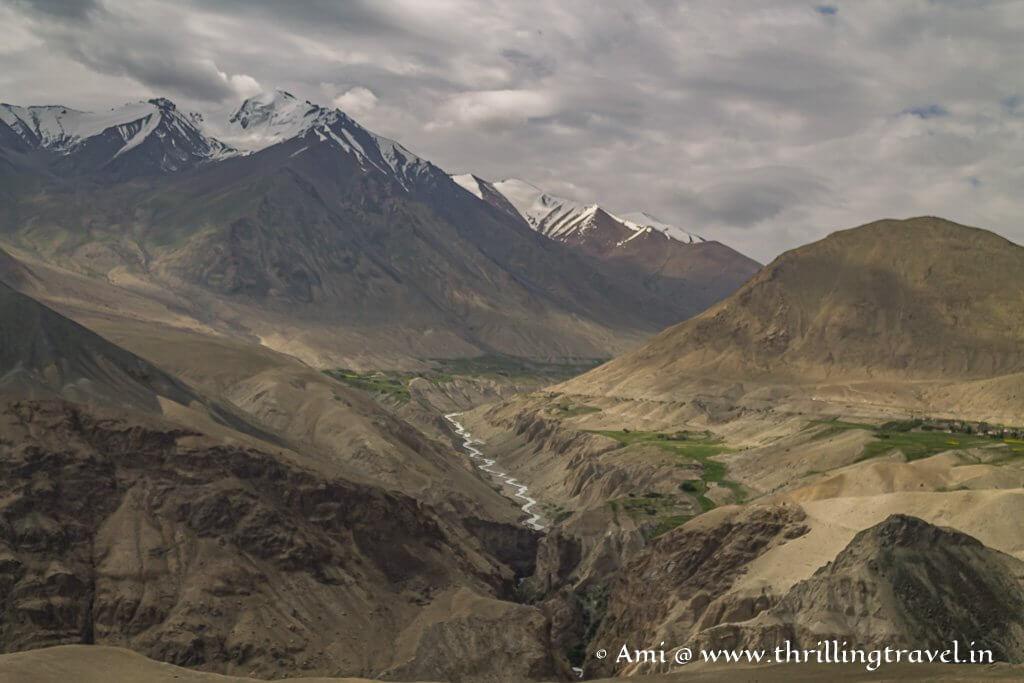 The diverse landscape of Nubra Valley in Ladakh