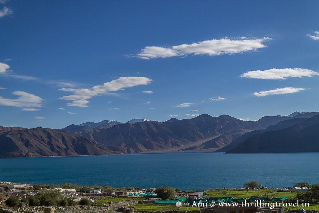 Pangong Lake Ladakh - as seen from Spangmik Village