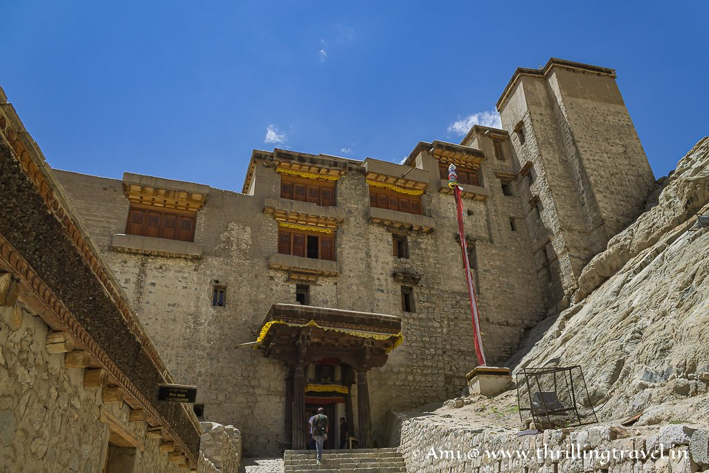 The entrance to the Royal Leh Palace in Ladakh