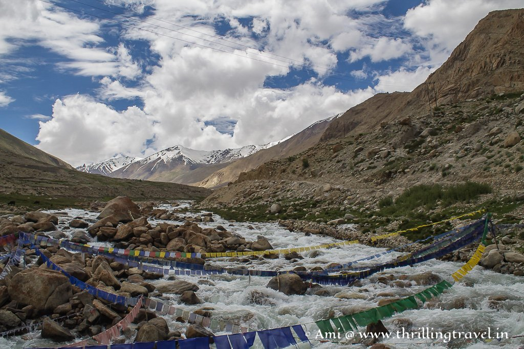 Shyok river - also called the river of death flowing through Nubra Valley Ladakh
