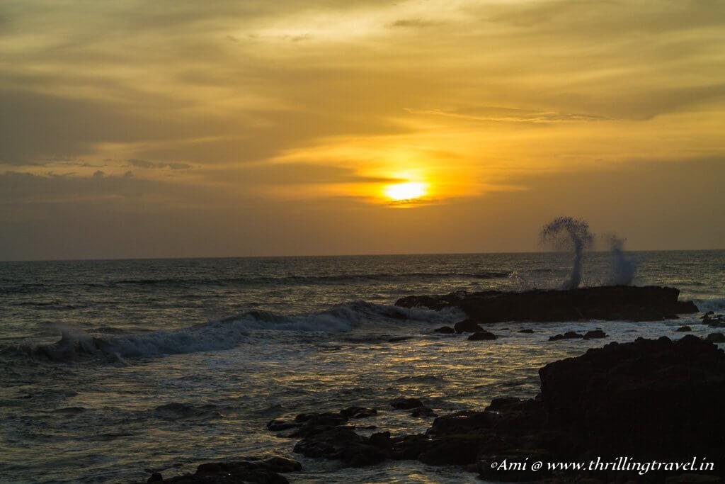 Sunset on Thottada Beach in Kannur