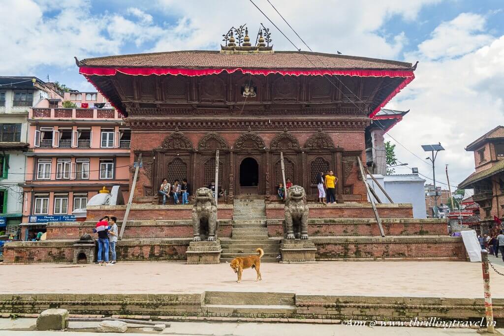 Shiva Parvati temple in Kathmandu Durbar Square