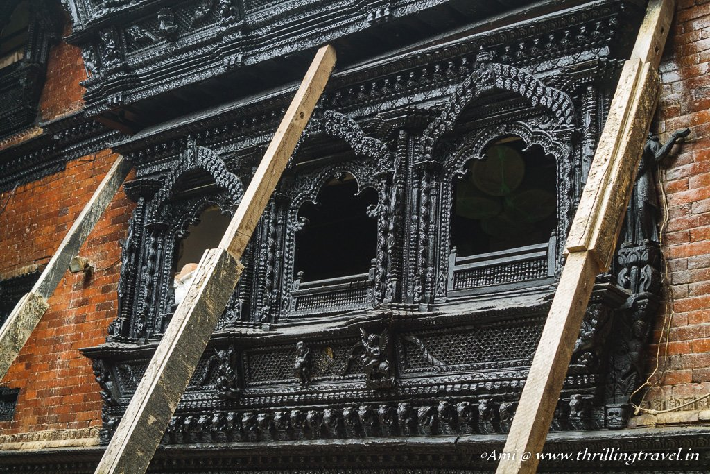 The windows of Kumari Ghar