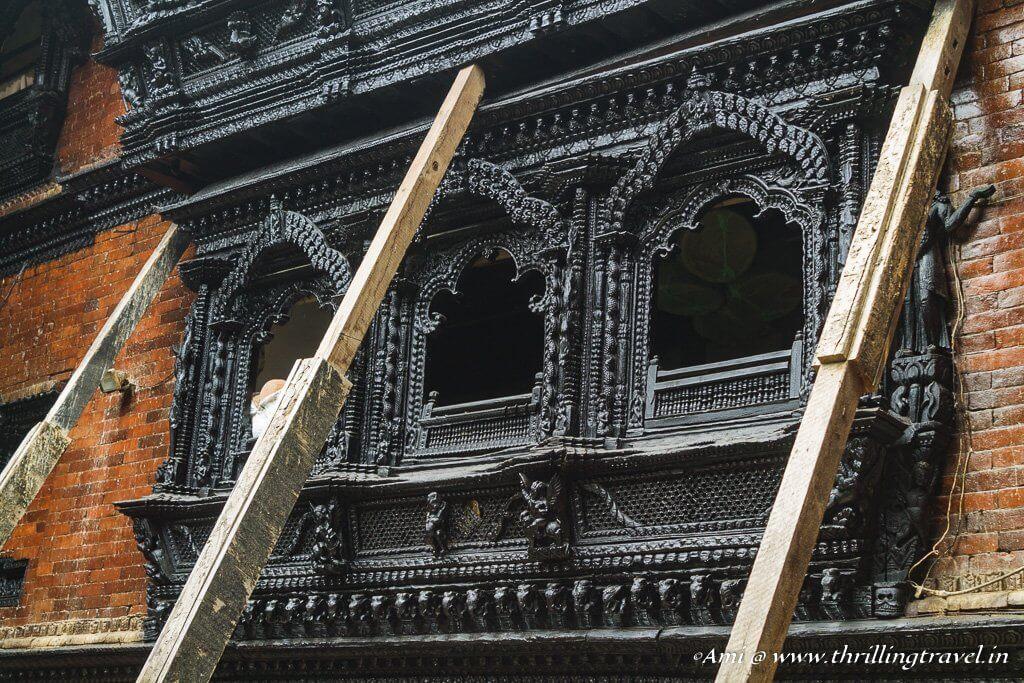 The windows of Kumari Ghar