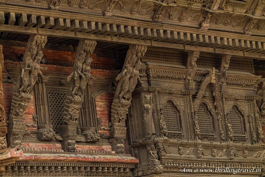 Close-up of the Basantpur Durbar Roof