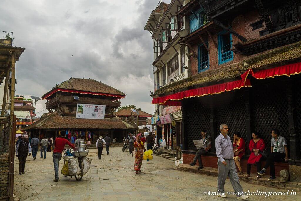 Silyan Sattal near the Kasthamandap