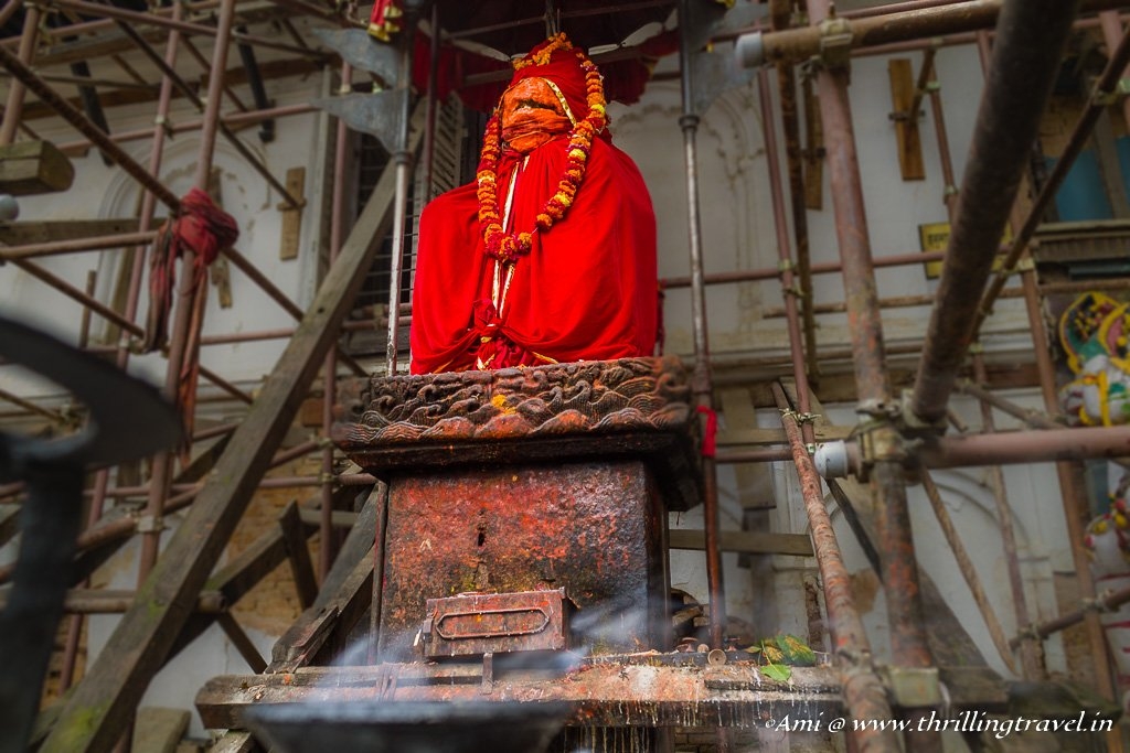 Hanuman Dhoka outside the Royal palace at Kathmandu Durbar Square