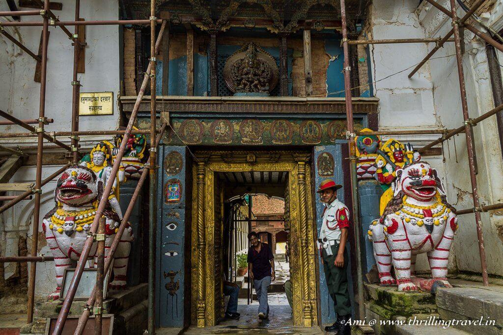 Entrance to Nasal Chowk of Basantpur Palace
