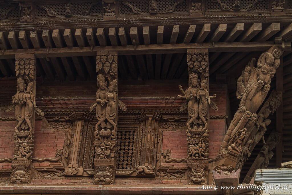 Stunning roof brackets of the Nautalle Durbar