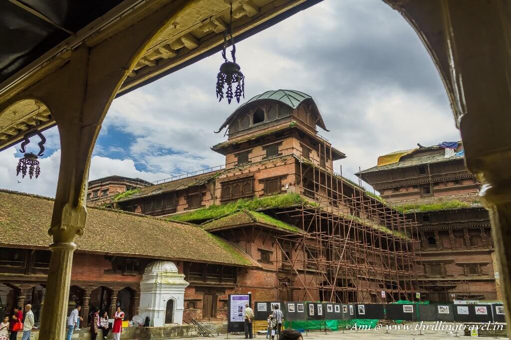 View from the Basantpur Palace Corridors
