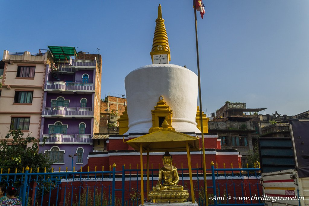 A Stupa in one of the lanes around Kathmandu Durbar Square
