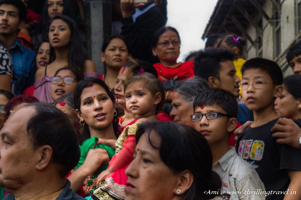 Crowd that throngs for the Indra Jatra