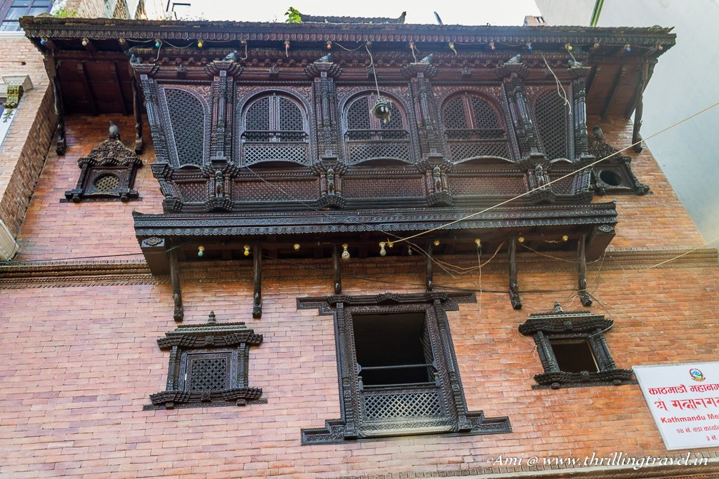 One of the many Newari homes around Kathmandu Durbar Square