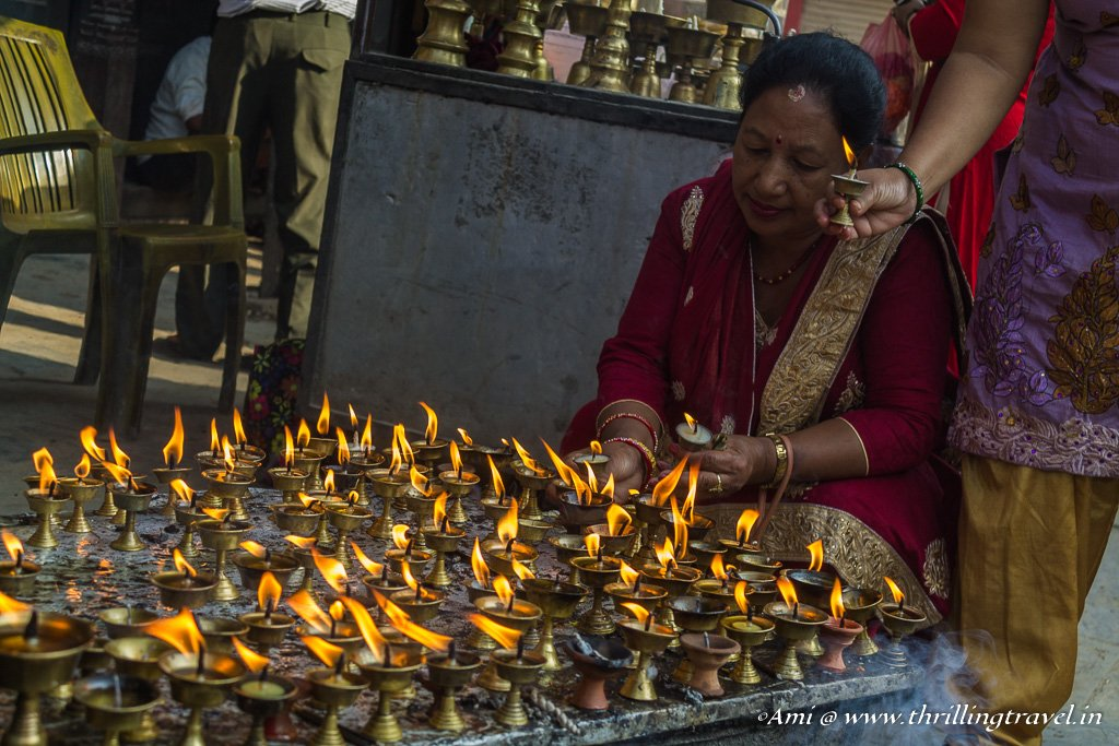 More of the Butter Lamps at the Akash Bhairava Temple