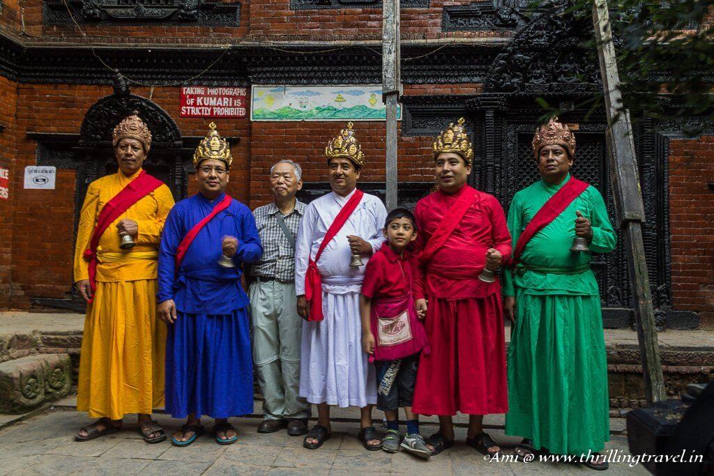 The priests at Kumari Ghar
