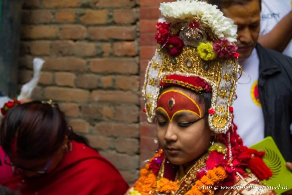 Bhairava at Indra Jatra