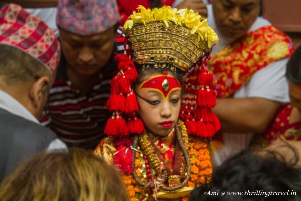 Present day Kumari of Kathmandu